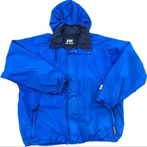 Helly Hansen Packable Rain Windbreaker Jacket Blue